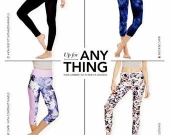 19f4b4e8b4 Sewing Pattern Stretch Knit Leggings Pattern, Exercise Leggings Pattern,  Yoga Leggings Pattern, Simplicity Sewing Pattern 8212