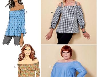 c6e86d4b1ac328 Sewing Pattern Women s Off Shoulder Blouse Pattern