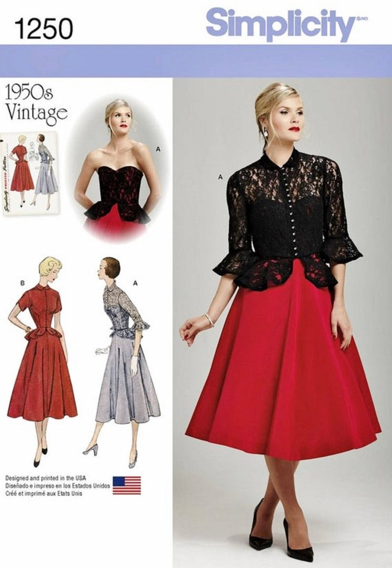 a52c75802af3 Sewing Pattern Misses Semi-Formal Dress Pattern Strapless