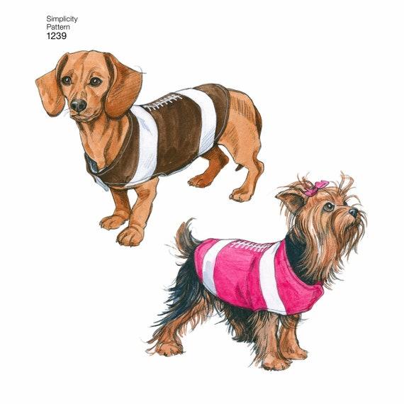 Sewing Pattern Dog Coats Pattern Football Dog Coat Pattern | Etsy