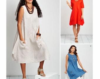 Sewing Pattern Women's Tunic Dress Pattern,  Misses Tunic Dress Pattern, Loose Fit Dress Pattern, Simplicity Sewing Pattern 8640