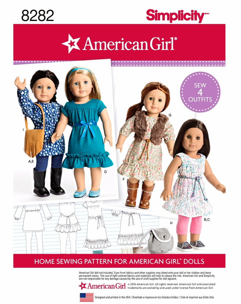 American Girl Doll Clothes Pattern 18 Inch Doll Clothes Etsy