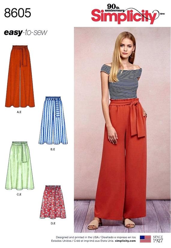 Pants Size 16-24 Vogue Sewing Pattern 8605 Misses Jacket Skirt