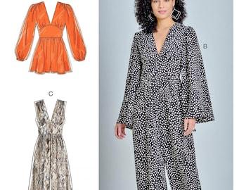 Sewing Pattern for Women's Jumpsuit Pattern, Wide Leg Jumpsuit Pattern, Short Jumpsuit Pattern, Romper Pattern, McCall's Sewing Pattern 8009