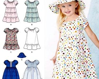 Sewing Pattern Girls' Dress Pattern, Little Girls Dress Pattern, Toddler and Baby Dress Pattern, Simplicity Sewing Pattern 1449 and 9126