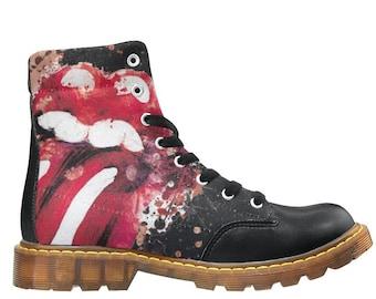 01eb7b09217c4 Rolling stones boots | Etsy