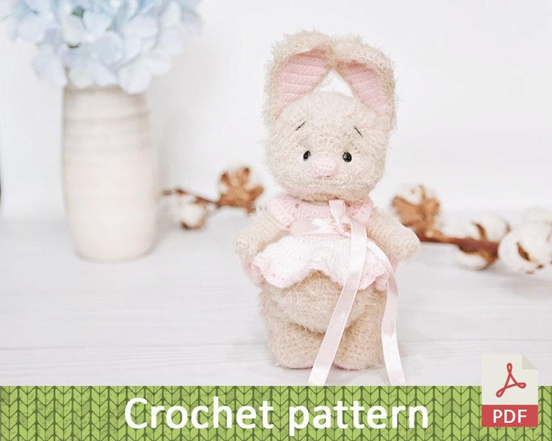Sweet bunny amigurumi in dress | Crochet baby mobiles, Crochet ... | 635x794