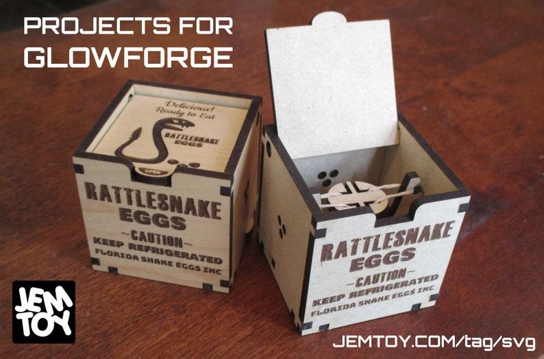 Rattlesnake Eggs Prank SVG Glowforge Laser Cutter Project image 0