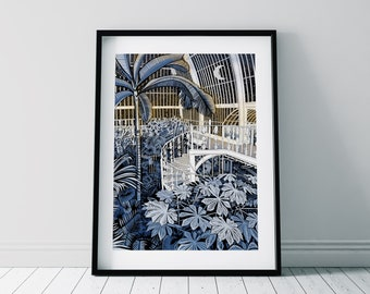 Botanical Print Greenhouse Poster Eden Project New Home Jungle Poster Jungle Leaves Roul Roul Print Tropical Art Rainforest Print