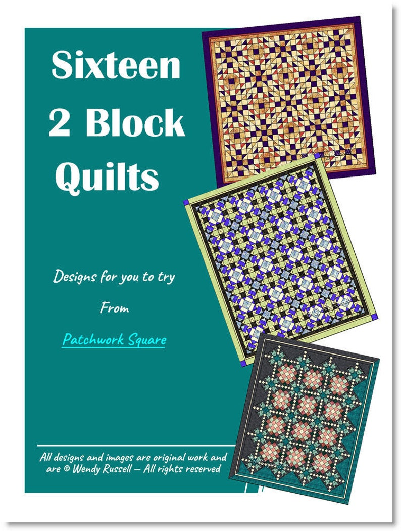 Sixteen TWO BLOCK Quilts image 0