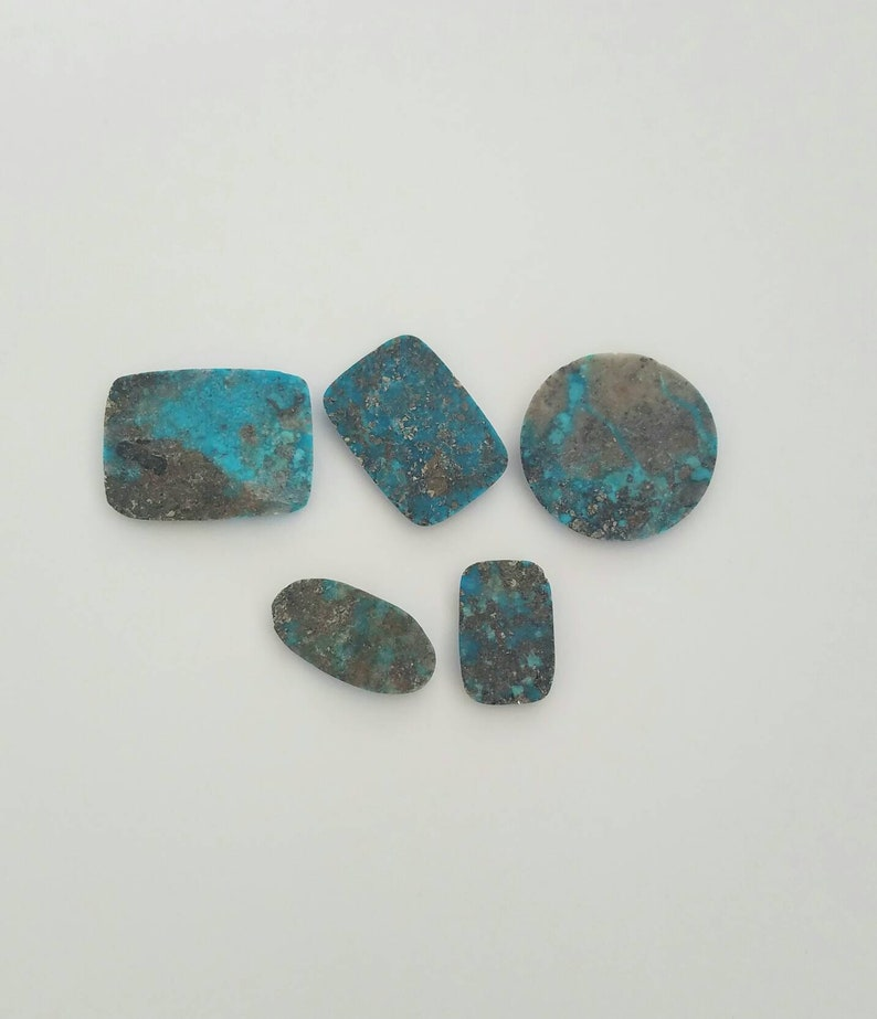 102 CT 100/% Genuine Turquoise Cabochons 20-29.5mm