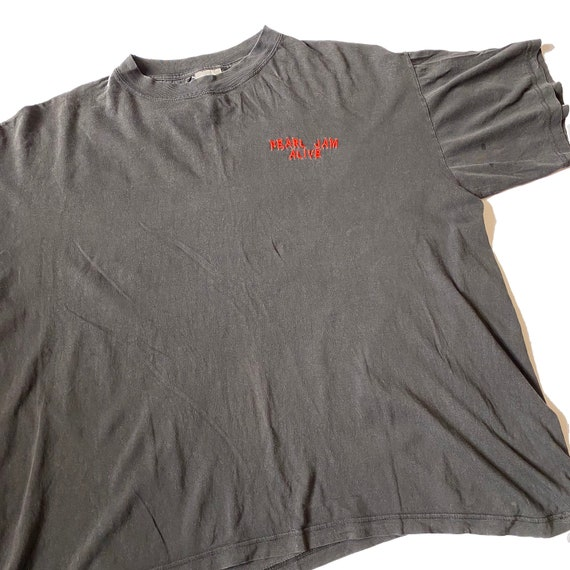 Early 90s Pearl Jam 'Alive' vintage embroidered t-