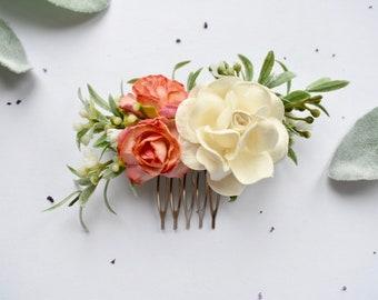 Cerise Hot Pink Rose Flower Hair Comb Bridesmaid Fascinator Bridal Wedding 5009