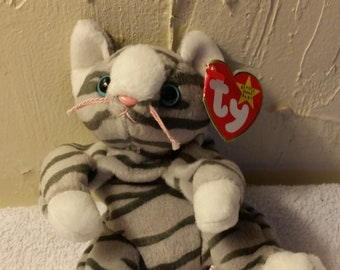 0a15560abf3 Ty Prance the Striped Cat Rare Retired 1997 Mint Beanie Babies Collectible