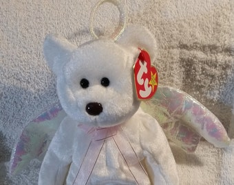 5bf0d31fc06 Halo Retired Mint Beanie Baby Angel Bear 1998