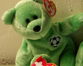 a08e0fefd34 Ty KICKS Bear Rare Retired 1998 Mint Collectible Beanie Baby