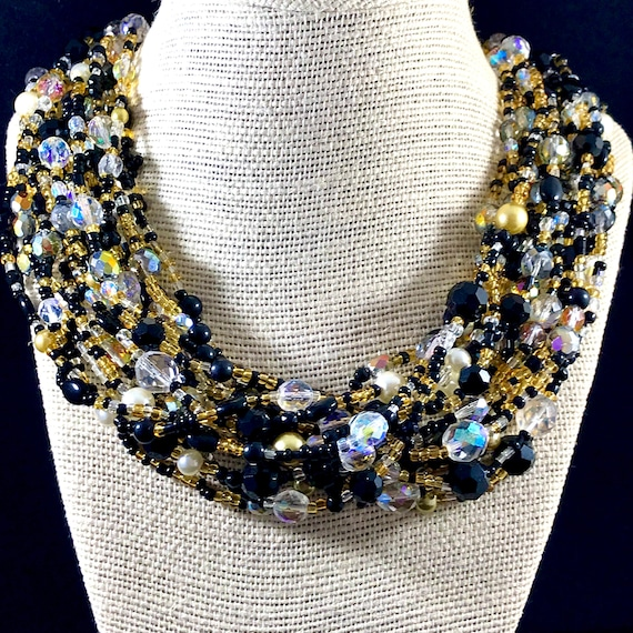 Joan Rivers Torsade Necklace | Multi Strand Glass