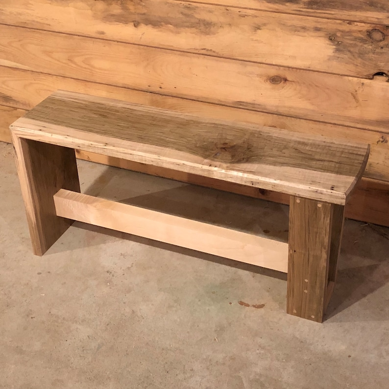 Ambrosia maple waterfall bench table