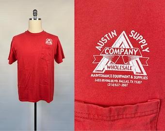 Hanes Men's T Shirt Deep V Neck Single Stitch Thin Vintage 90s New Size  XL