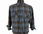 Vintage 60s Bellcraft Plaid Button Up Shirt Medium