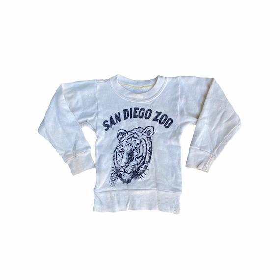 Vintage 50s San Diego Zoo Kids Crewneck Sweatshir… - image 1