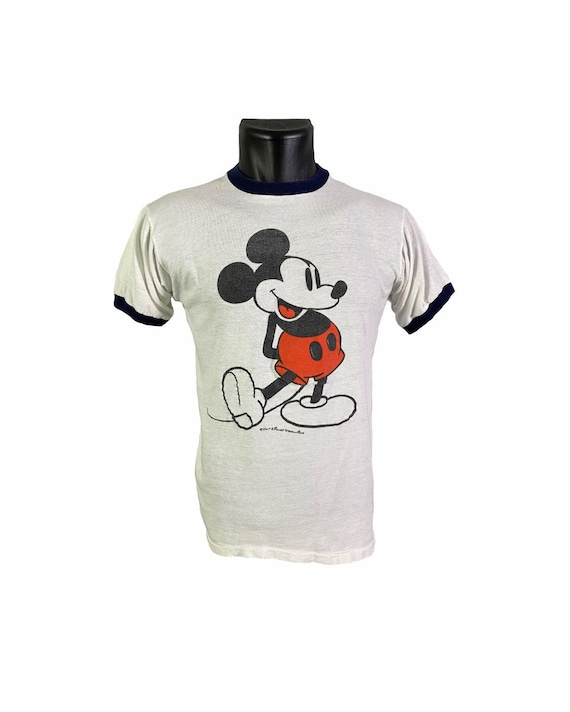 Vintage 70s Mickey Mouse Ringer T shirt | S/M