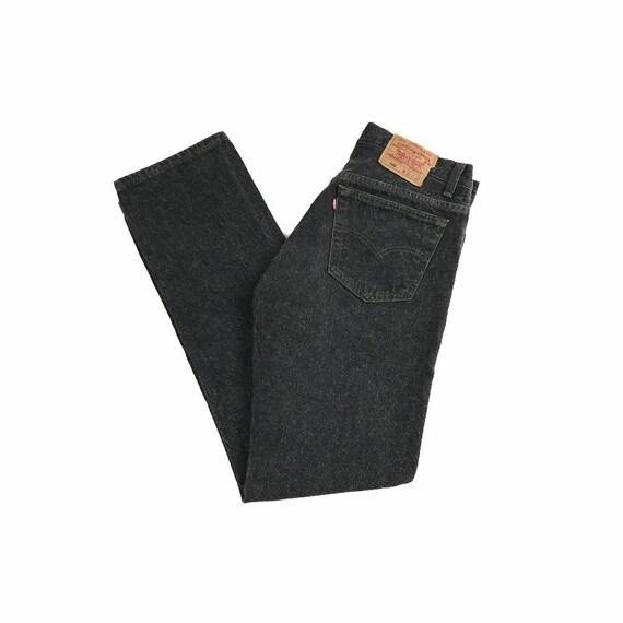 Vintage 90s Levi's 501 Black Denim Jeans | 32 x 31