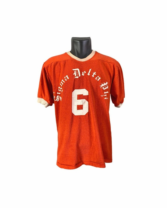 Vintage 50s Sigma Delta Phi Rawlings Jersey T shir