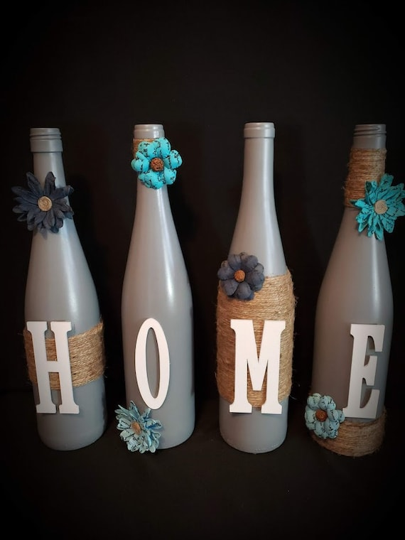 Wine Bottles Home Gift Teal Rustic Chic Home Decor Etsy,Bedroom Ideas For Girls