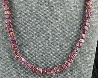 Navajo Spiny Oyster /& Sterling Silver Necklace Louise Joe