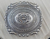 Sterling Silver Belt Buckle - Eugene Charley - Navajo Buckle - Native American