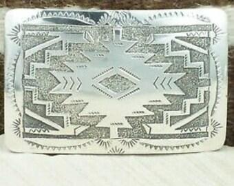 Sterling Silver Belt Buckle - Raymond Begay
