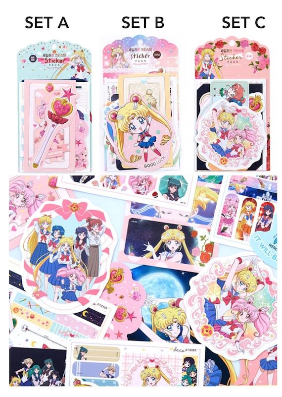 Aesthetic Sailor Moon Manga Stickers Sheet Kawaii Anime Magical Girl Stationery