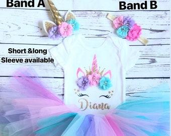 b44f4f315a0d3 Unicorn Birthday outfit unicorn first birthday outfit baby girl unicorn  birthday outfit 1st birthday outfit unicorn tutu set unicorn shirt