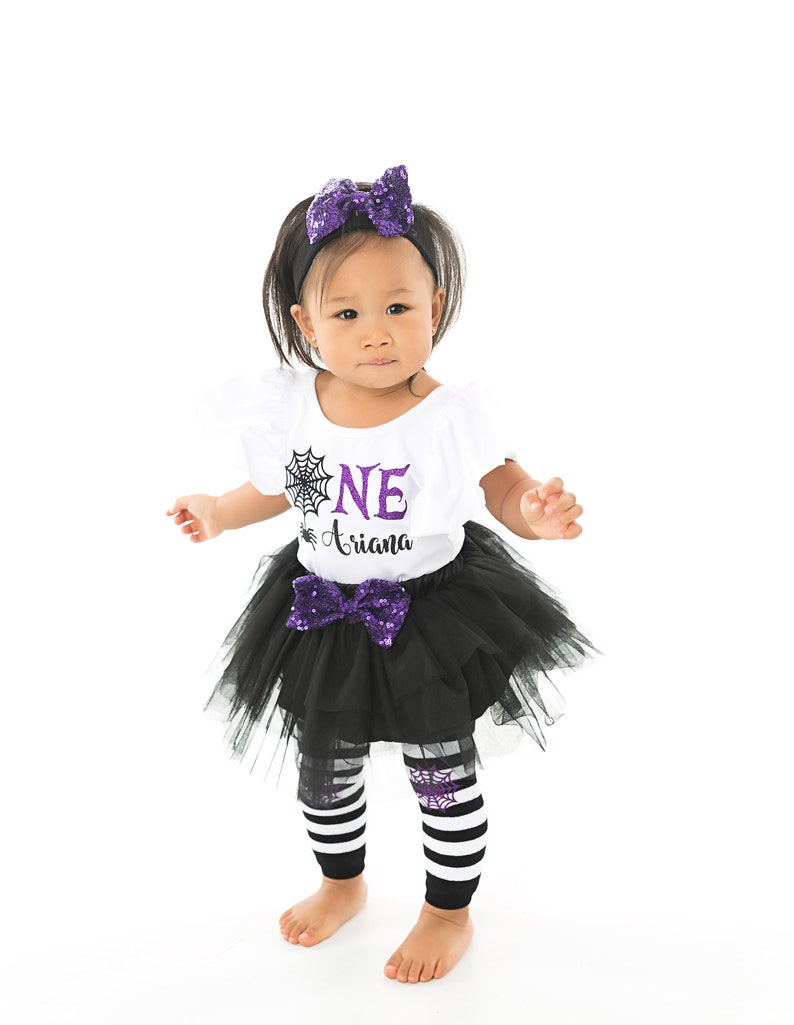 Girl 1st Halloween birthday Outfit First Halloween birthday Costume Personalized birthday Halloween outfit Baby girl Halloween birthday top