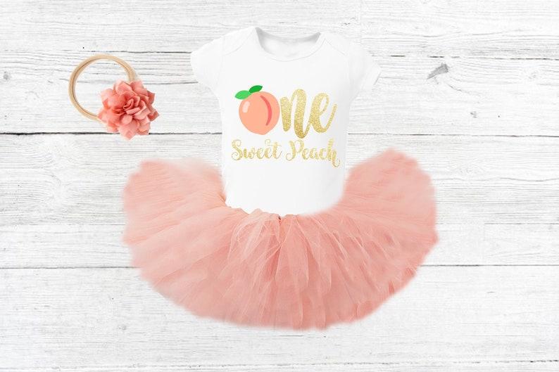 One sweet peach Birthday Outfit Girl Peach First Birthday Outfit Personalized Peach Birthday outfit peach Tutu outfit boho girl birthday set