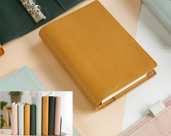 PU Leather cover 6 Binder Rings Journal Agenda Refillable Inserts A5 A6 CC45