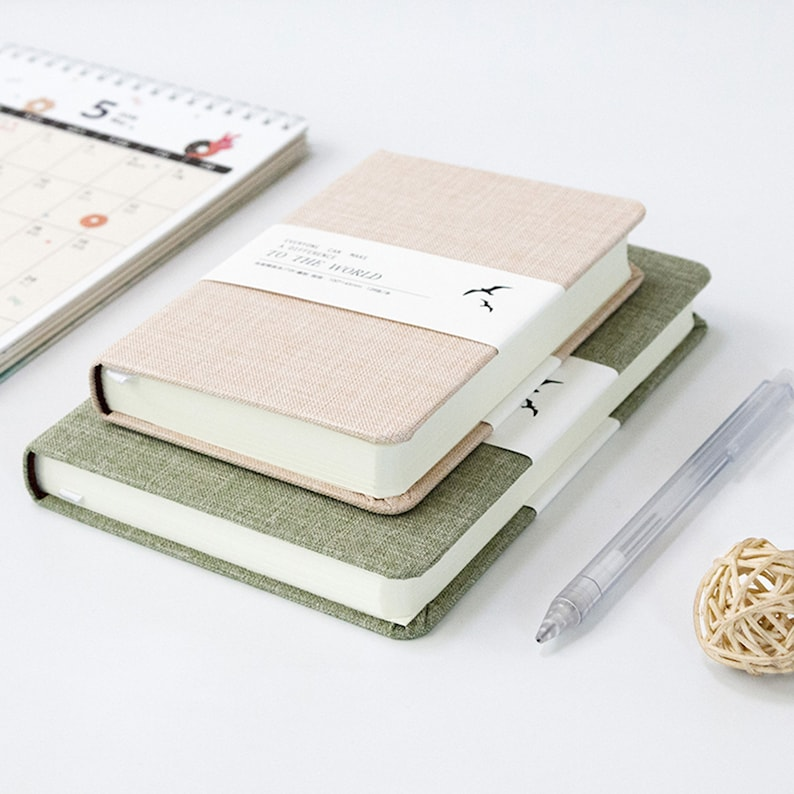 32k Linen notebook fabric cover journal Four color notepads image 0