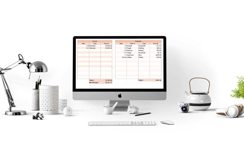 Spreadsheet Expense Tracker Template image 0