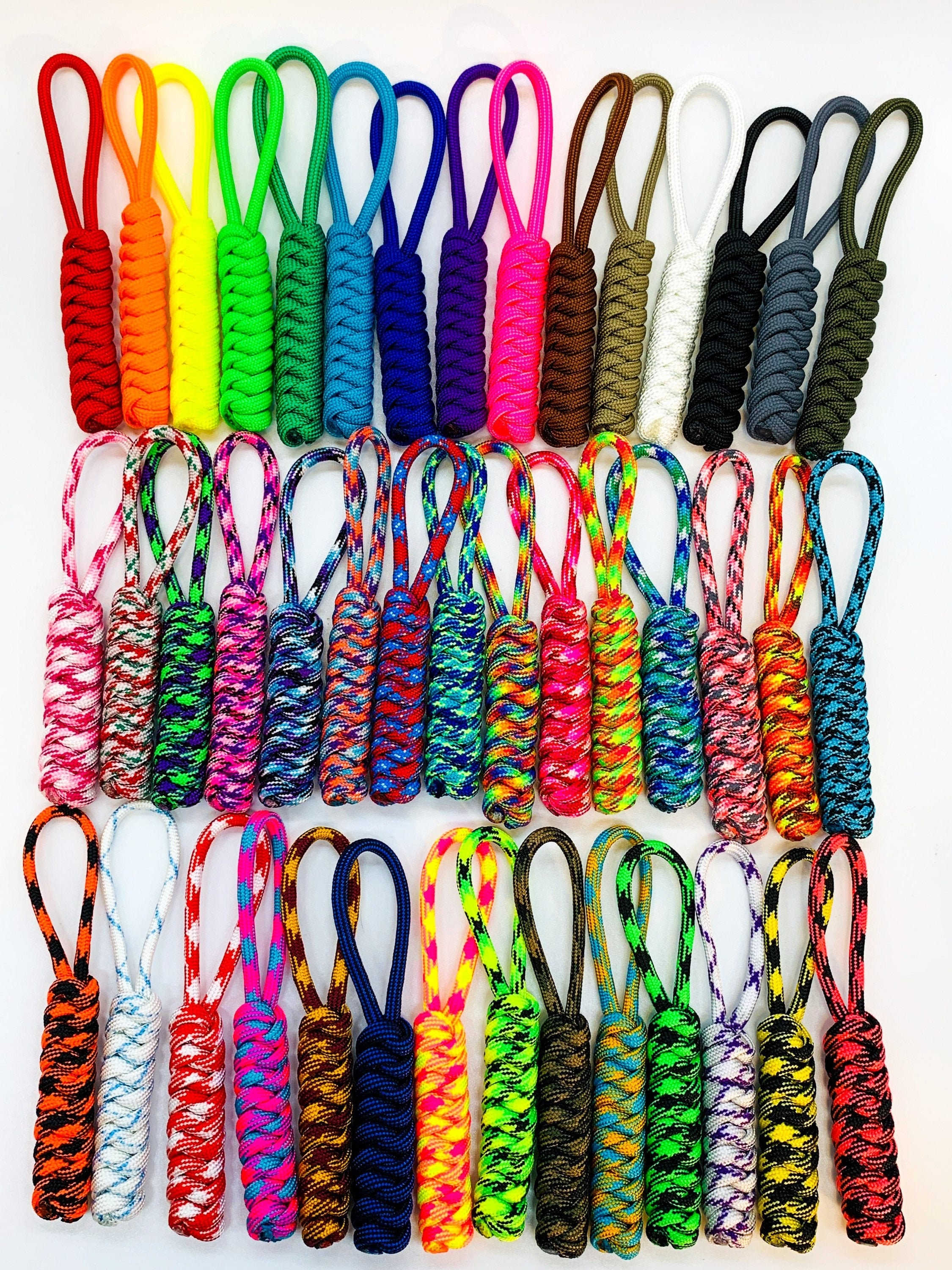 back to school two color key chain Paracord keychain paracord key fob backpack tag cobra knot paracord motorcycle key ring