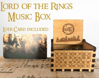 0a01a0777a2 Lord of the Rings theme music box  The Fellowship unique gifts present  Personalized custom message engraved birthday present idea