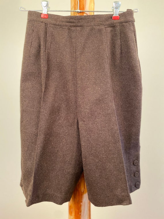 1950's Wool Culottes, Vintage Trouser Shorts, Vic… - image 7