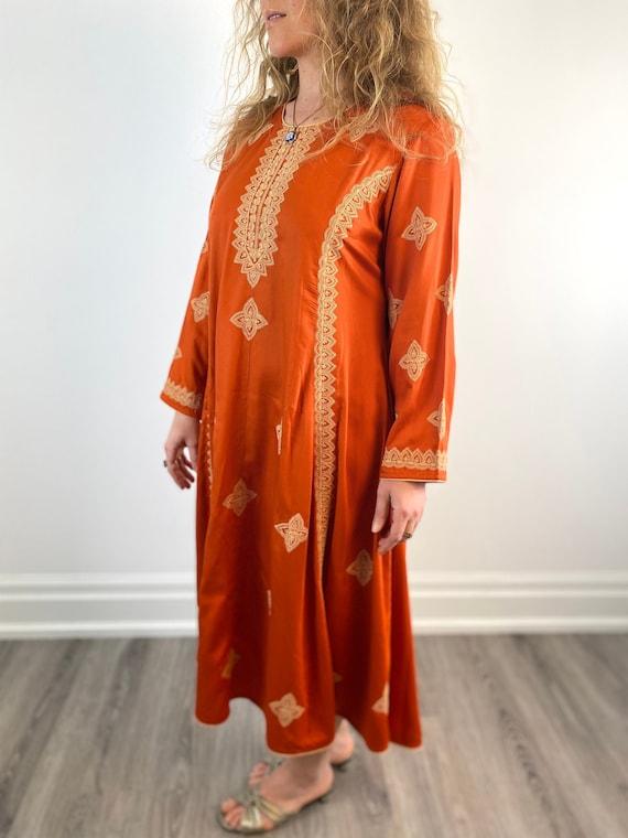 Boho Embroidered Kaftan Dress