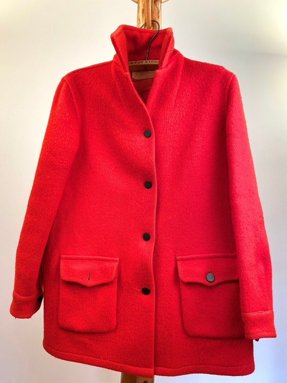 1940's Hudson's Bay Red Blanket Coat