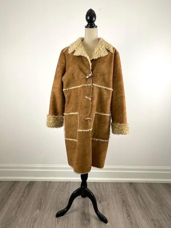 Liz Claiborne Faux Shearling Coat