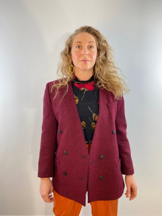 80's Oversized Wool Blazer