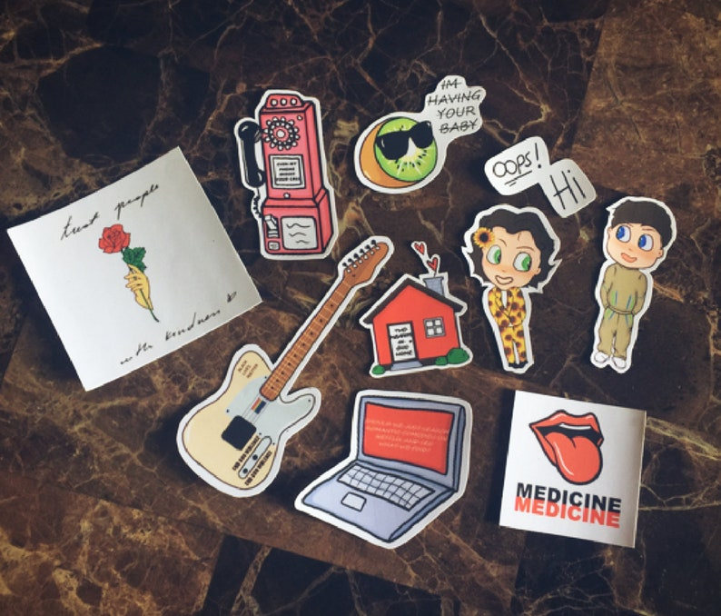 Harry Styles Themed Stickers 10 Pack
