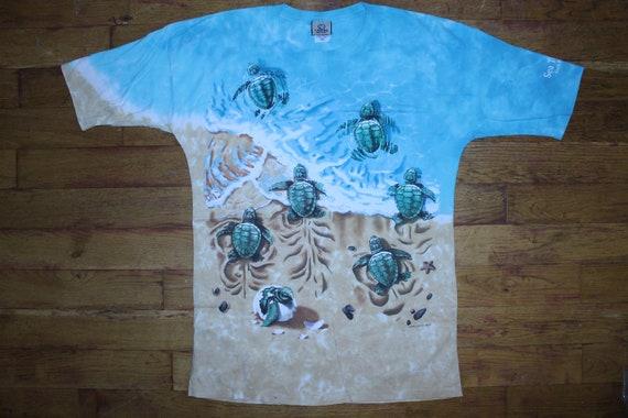 """Vintage 1996 Liquid Blue """"Sea Turtles"""" Shirt"""