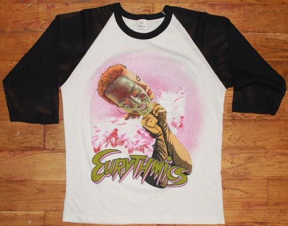 Vintage 1984 Eurythmics Tour Mesh Raglan Shirt