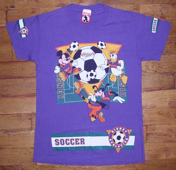 "Vintage Disney Mickey Mouse Inc ""Soccer"" Shirt + S"